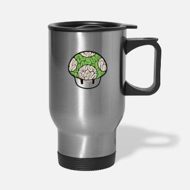 Super Mario Mushroom Mushroom Brain green - Travel Mug