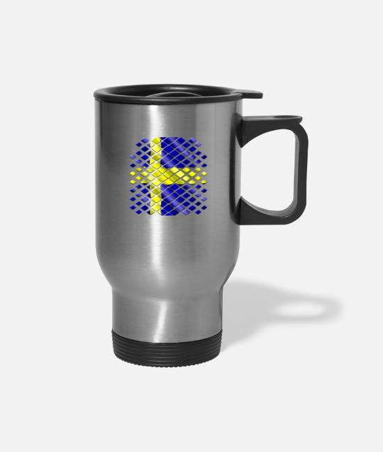 Sweden Mugs & Drinkware - Sweden - Travel Mug silver