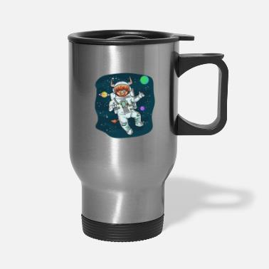Horns Scottish Highland Cow Space Cow Bull Breeder Gift - Travel Mug