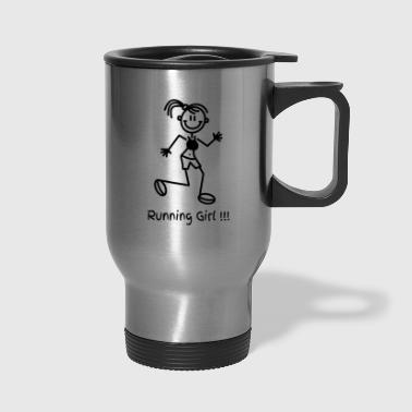 Girl Running Running GIrl - Travel Mug