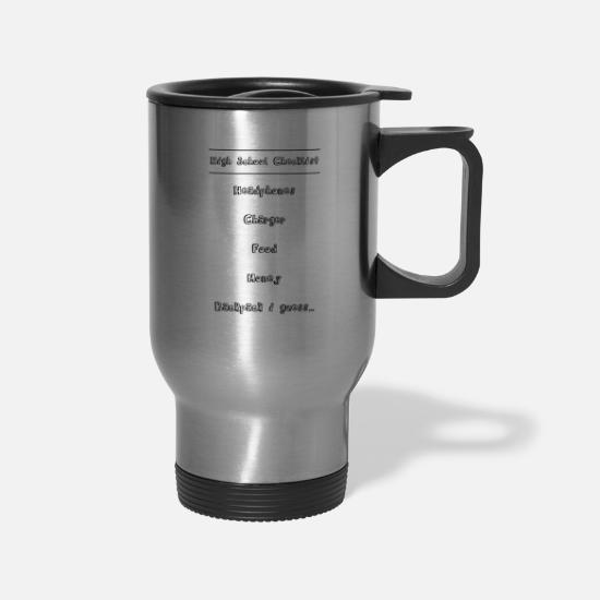 Highschool Mugs & Drinkware - High School - Travel Mug silver