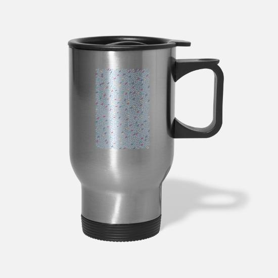 Retro Mugs & Drinkware - Retro pattern - Travel Mug silver