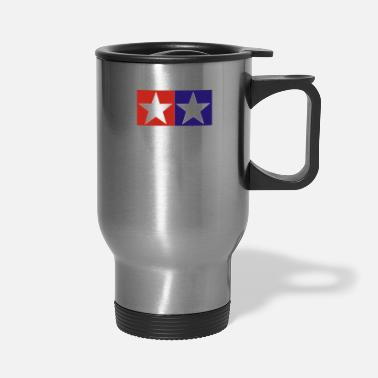 Retro TAMIYA Race Mini 4WD Logo - Travel Mug