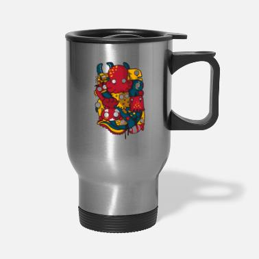 Sea Creatures sea creatures and anchor - Travel Mug