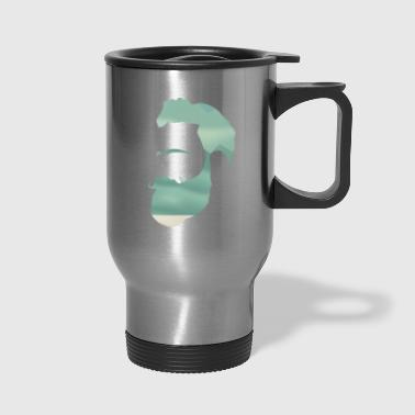 Indie Mountain Climber Silhouette - Travel Mug