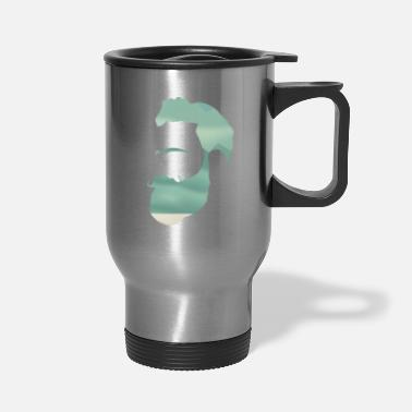 Indie Indie Mountain Climber Silhouette - Travel Mug