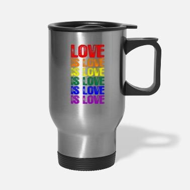 Love LGBTQ Love is Love is Love - Travel Mug