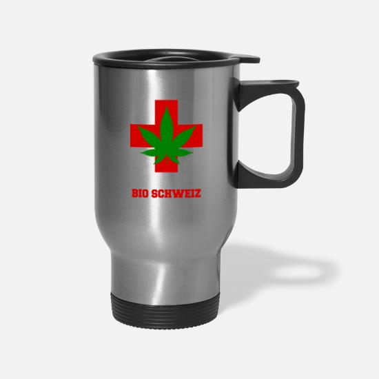 Pothead Mugs & Drinkware - Organic Switzerland - Travel Mug silver