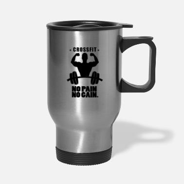 Crossfit Crossfit No pain No gain shirt sport Workout gym - Travel Mug