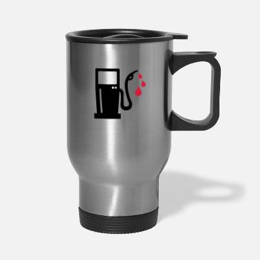 Gas Station gas station - petrol pump - petrol - Travel Mug