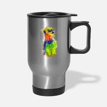 Animal meerkat Animal Art Animal Rights - Travel Mug
