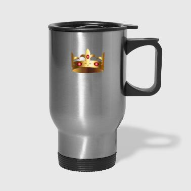 Golden crown royal VIP King monarch vector image - Travel Mug