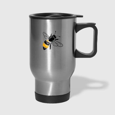 Wasp Wasp bee insect wildlife vector image cartoon logo - Travel Mug