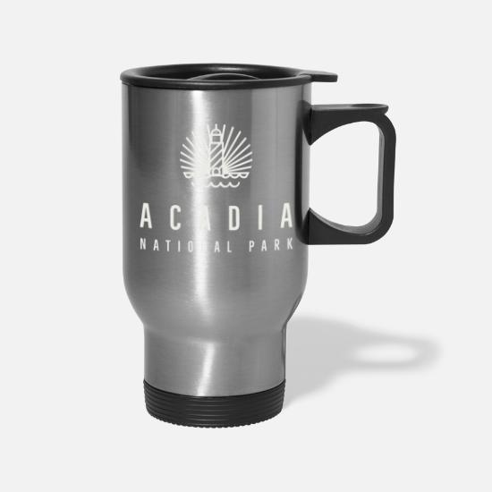 Maine Mugs & Drinkware - Acadia National Park - Travel Mug silver