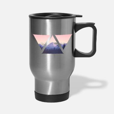 Morning Triangle mountains panorama in the morning - Travel Mug