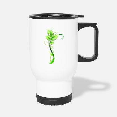 Dew grass leaves dew - Travel Mug