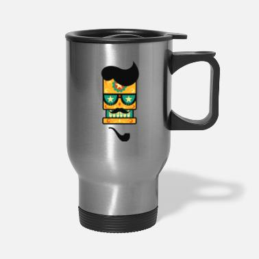 Pipe Cinco De Mayo Starry Eyed Sugar Skull - Travel Mug
