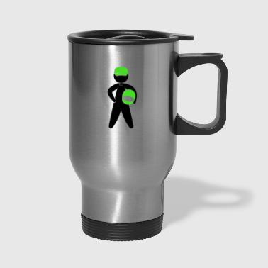 A Racer With Helmet - Travel Mug