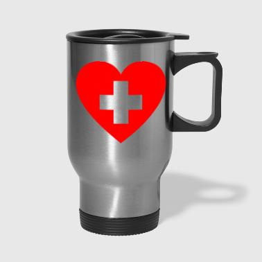 FIRST AID HEART - Travel Mug