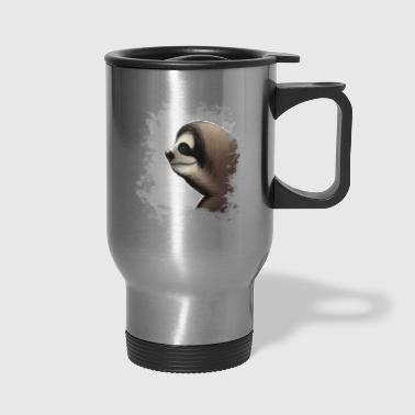the coolest grungy sloth grunge sloth-lovers gift - Travel Mug