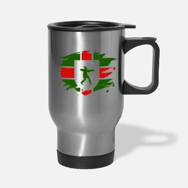 Nottinghamshire Nottinghamshire Flag Paint Splatter Design - Travel Mug