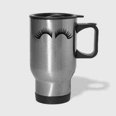 eye lashes - Travel Mug