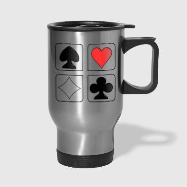 playing cards - Travel Mug