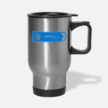 Sportscar Sportscars Roadsign - Travel Mug