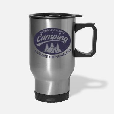 Irony Irony of Camping - Travel Mug
