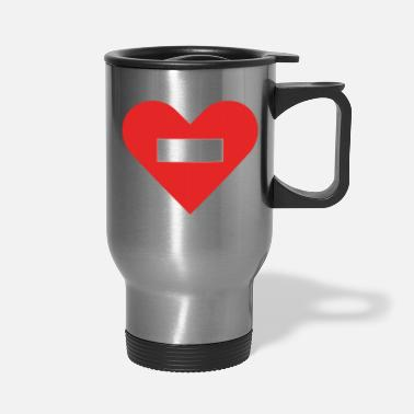 Cuore no entry heart - Travel Mug