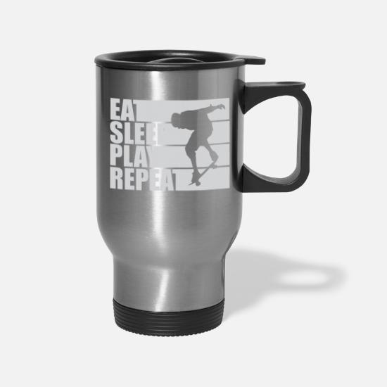 Freestyle Mugs & Drinkware - Eat Sleep Play freestyle - Travel Mug silver