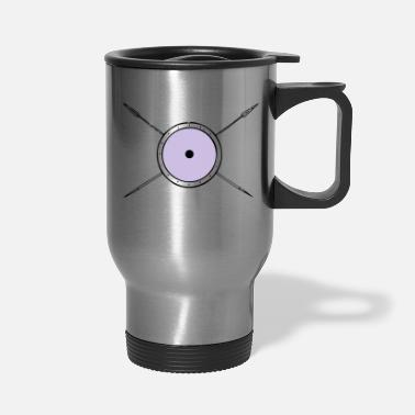Spear shield and spears - Travel Mug