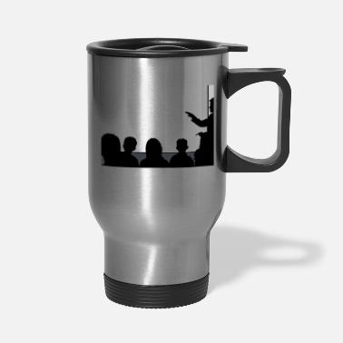 Lineament Classroom Silhouette 16:9 (HD) with transparent - Travel Mug