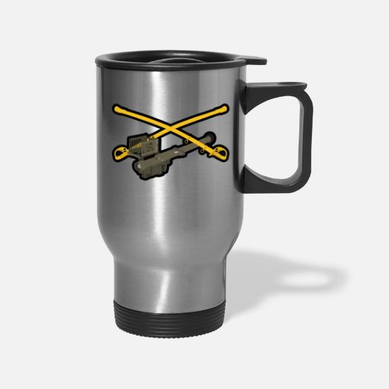 Stinger Mugs & Drinkware - Cavalry Stinger - Travel Mug silver