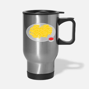 French Roast French Fries Plate - Travel Mug