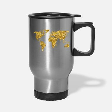 Golden Earth VIP golden earth gold illustration vintage - Travel Mug
