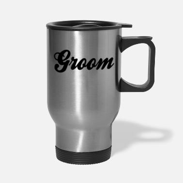 Cool Groom Script Design - Travel Mug