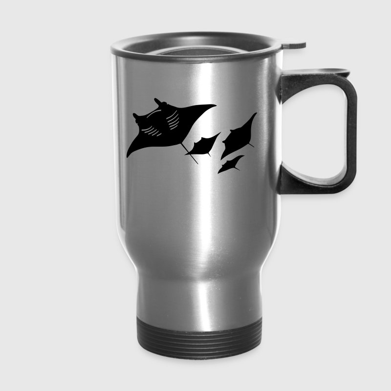 manta ray sting scuba diving diver dive - Travel Mug