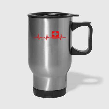 Heartbeats for First Aid Practitioner Design - Travel Mug