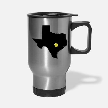 Rose Vector Texas and Yellow Rose on Austin Capital - Travel Mug