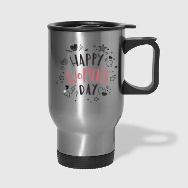 womens day 8 march doodle - Travel Mug