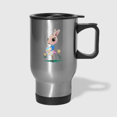 Sketched Easter Bunny, Cute Bunny Easter Bunny - Travel Mug