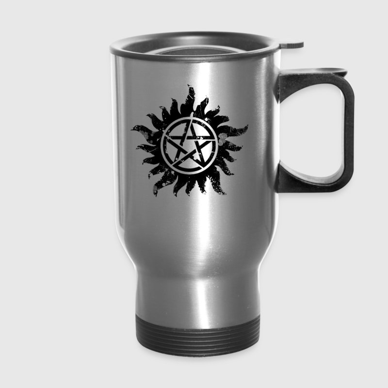 Anti-Possession Symbol Dark (Broken).png - Travel Mug