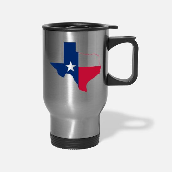 Texas Mugs & Drinkware - TEXAS STATE - Travel Mug silver