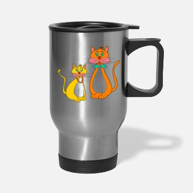 Stylized stylized cats - Travel Mug