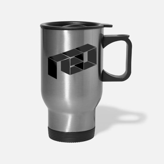 Black Mugs & Drinkware - Neo Dark - Travel Mug silver