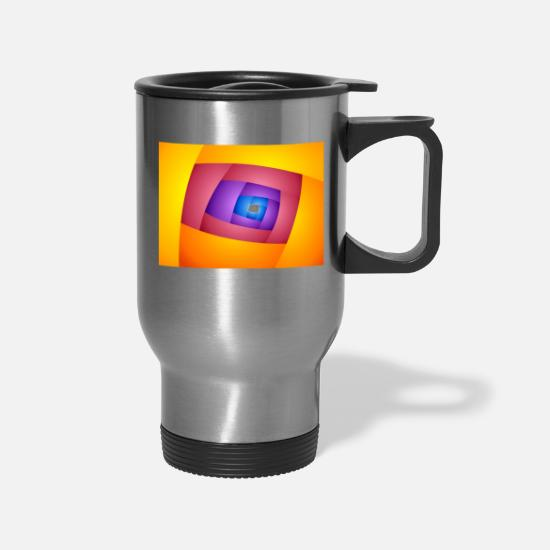 Art Mugs & Drinkware - ENTRY Abstract Art #01 - Travel Mug silver