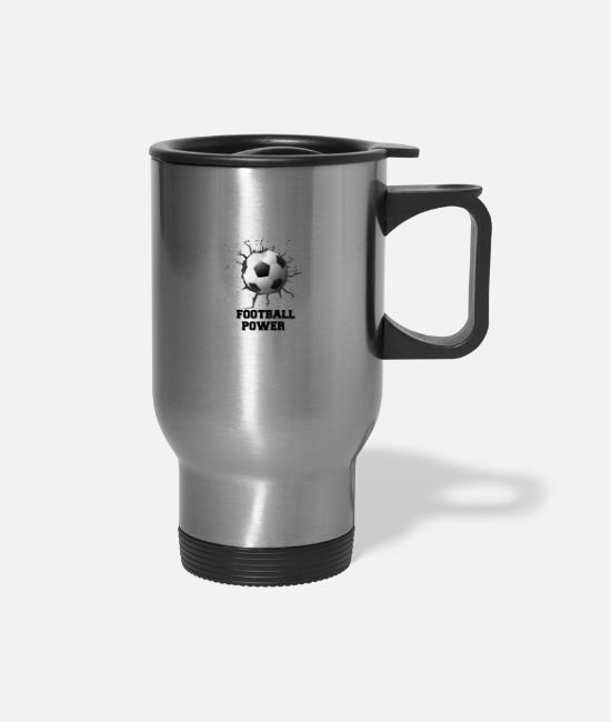 Stadium Mugs & Cups - GIFT - FOOTBALL - Travel Mug silver