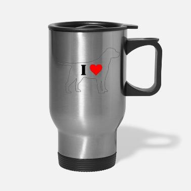 I Heart I Heart Labrador - Travel Mug