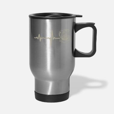 Jewelry gift heartbeat jewelry chest - Travel Mug